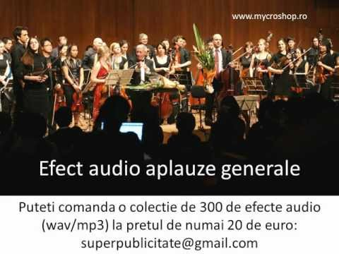 Efect audio aplauze generale. Applause sound effects.