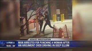 Caught on camera -- fight over Deep Ellum parking escalates, woman punched by bartender