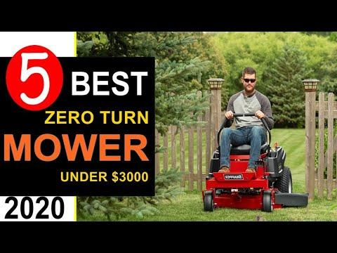 Best Zero Turn Mower 2020 🏆 Top 5 Best Zero Turn Mower Under 3000 Dollars