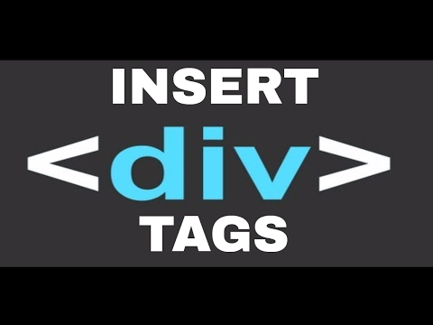 Inserting div tags and Cascading Style sheets (css)