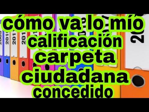 #الجنسية_الاسبانية/ في como va lo mío calificación وفي carpeta ciudadana concedido