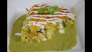 Mexican Aztec Casserole in Poblano Sauce