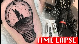 Dots and lines - Tattoo time lapse