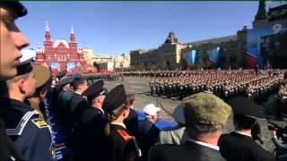 MOSCA 9.5.2013: LA VITTORIA SUL NAZIFASCISMO - PARATA PIAZZA ROSSA