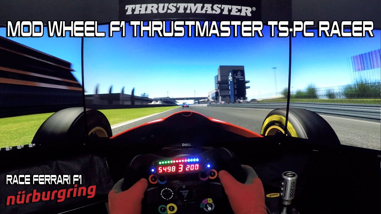 mod wheel f1 thrustmaster ts pc racer test ferrari f1 nurburgring youtube. Black Bedroom Furniture Sets. Home Design Ideas