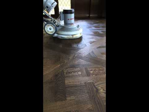 Wire brushed and stained European oak Parquetry Versailles