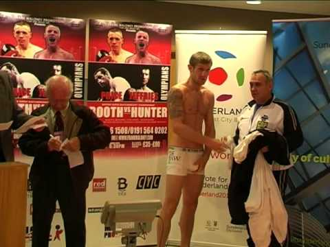 Stadium of Light - Weigh In - Hunter v Booth