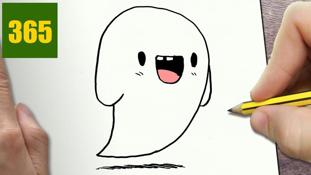 Disegni Di Halloween Facili.Come Disegnare Fantasma Di Halloween Kawaii Passo Dopo Passo Disegni Kawaii Facile