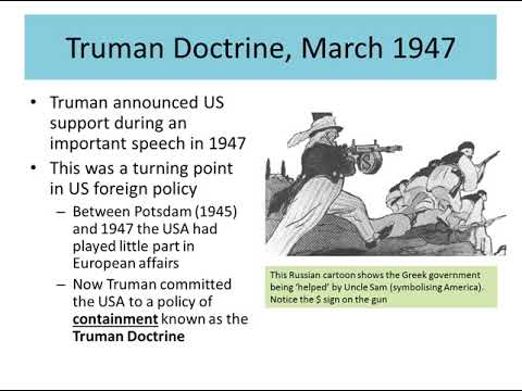 an overview of the crucial cold war policies by harry s truman President harry s truman presented this as the truman doctrine, that would guide us a long and enduring bipartisan cold war foreign policy.