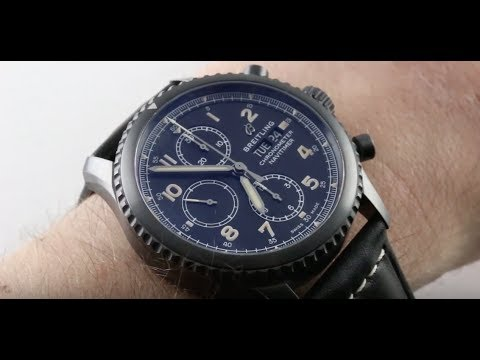 87621c977bb 2018 Breitling Navitimer 8 Chronograph Black Steel M13314101B1X1 Luxury  Watch Review