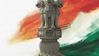The Lion Capital of Asoka - Indian national Emblem - in 3D
