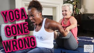 Yoga Gone WRONG!  Couples Yoga Challenge with Lil Boss and Mini Mama