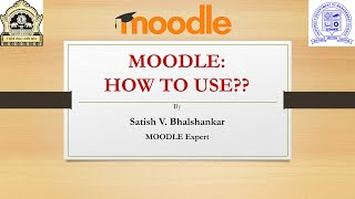 "Webinar, ""MOODLE: Online Teaching Management Tool"" organized by Department of Management Science"
