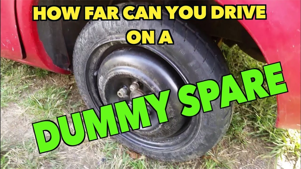 how far can you drive on a dummy spare tire here 39 s my story youtube. Black Bedroom Furniture Sets. Home Design Ideas
