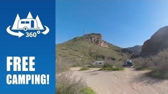 Free Camping at Tortilla Flat Dispersed in Apache Junction, AZ - 360° Drive-thru