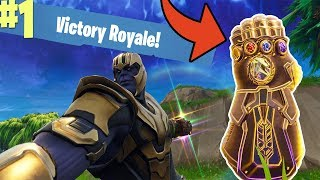 INSANE! BECOMING THANOS IN FORTNITE! | Thanos Infinity Gauntlet Gameplay in Fortnite Battle Royale