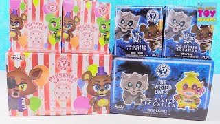 FNAF Pizzeria Simulator Twisted Ones Sister Location Funko Mystery Minis Opening | PSToyReviews
