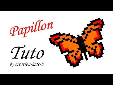 Tuto Pixel Art Papillon Format Fiche Bristol Youtube