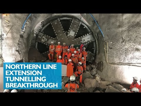 Northern Line Extension Tunnelling Breakthrough