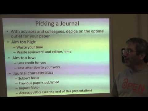 BITC: Publication Class -- 2. Scoping and Choosing a Journal
