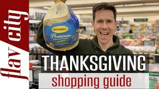 HUGE Thanksgiving Grocery Haul - The ULTIMATE Guide To Planning Your Thanksgiving Menu