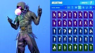 RAVEN SKIN SHOWCASE WITH ALL FORTNITE DANCES & EMOTES