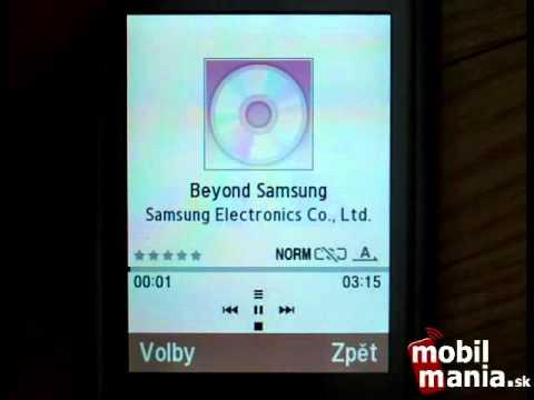 Samsung S3500 menu