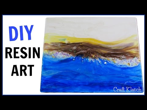 Epoxy Art:  Painting with Resin DIY   How To Make Resin Art   Land Meets Water   Craft Klatch