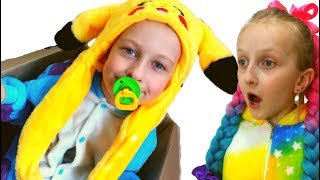 Tawaki kids and funny story about surprise in a box\Pretend play