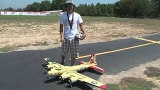 B-17 BOMBER RC Flying Fortress SNEAK PEEK in HD!