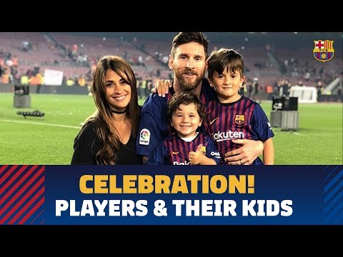 Barça Celebrates Double With Their Families