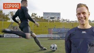 How Good Is Ter Stegen With His Feet? Exclusive Skill Challenge
