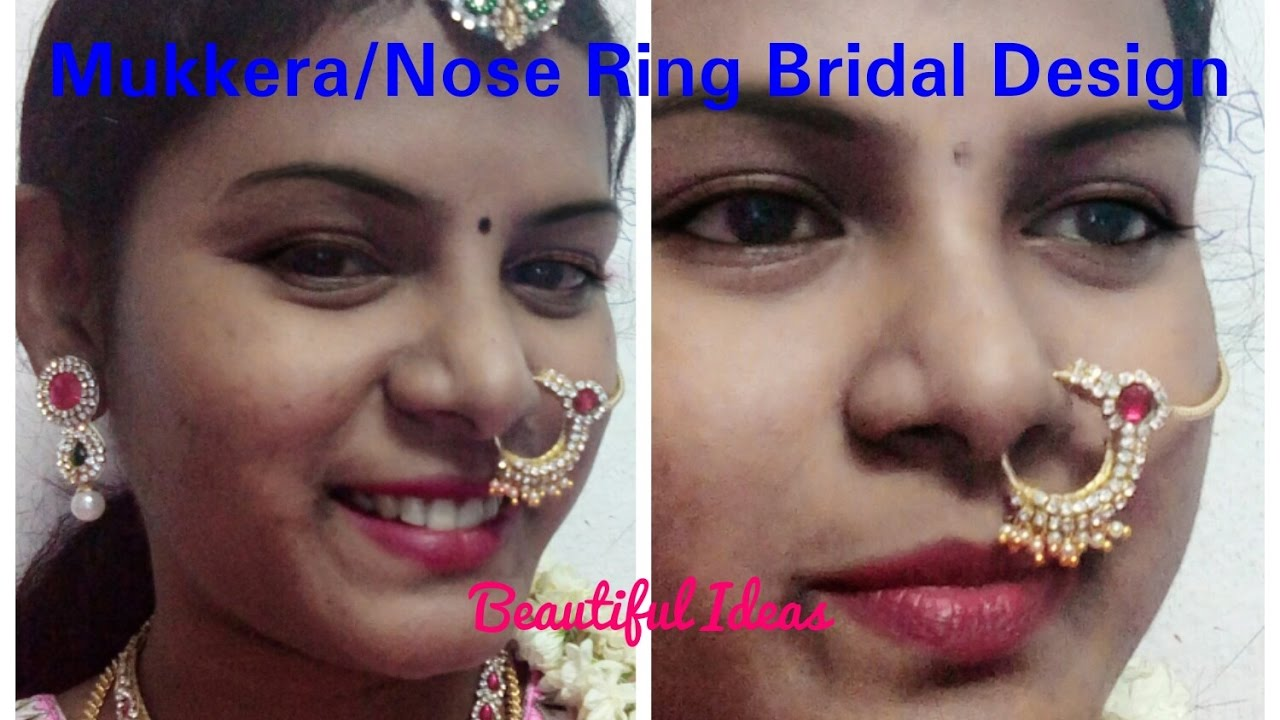 DIY/ Mukkera / Nose Ring Bridal Design Making at Home ./Silk ...