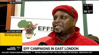 EFF campaigns in East London
