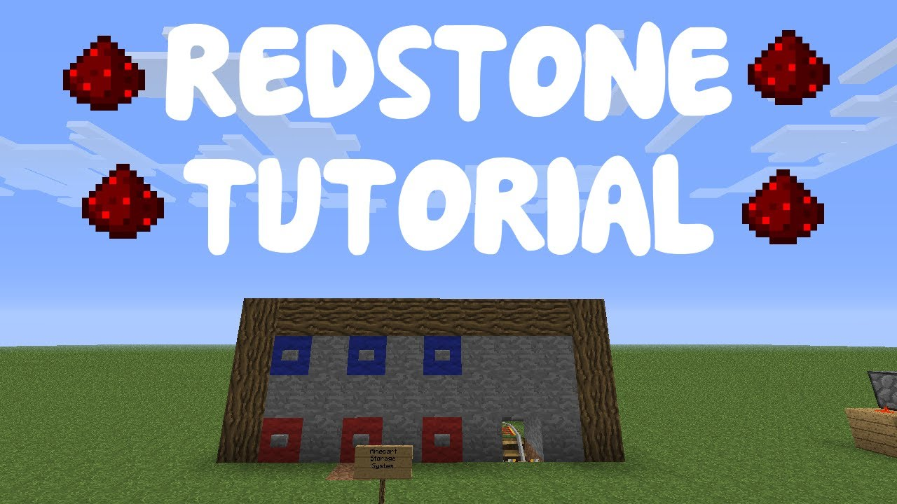 how to make redstone minecart tracks