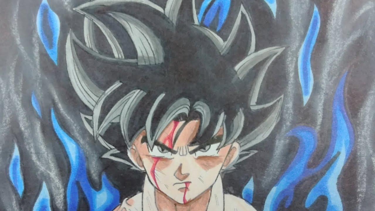 Drawing goku new form ultra instinct dragon ball super youtube - Goku ultra instinct sketch ...