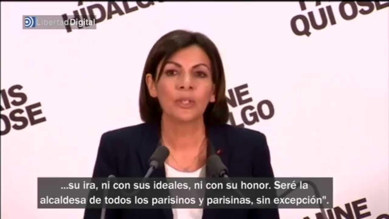 La Española Anne Hidalgo Primera Alcaldesa De París Youtube