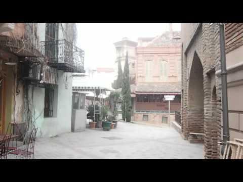 The Tbilisi walks, near Rezo Gabriadze theatre