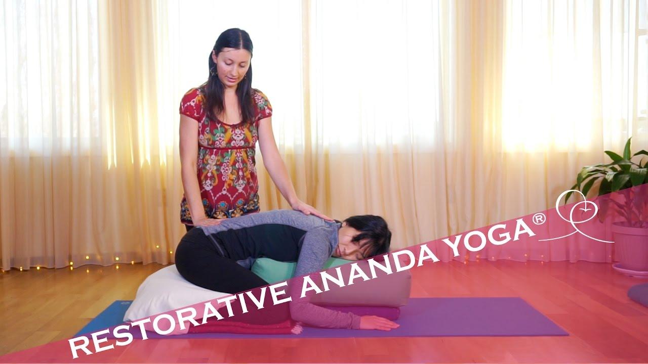 3 Restorative Ananda YogaR Poses