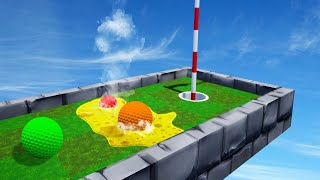 DODGE ACID To Reach The HOLE! (Golf It Troll Map)