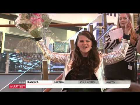 Saara Aalto's homecoming on Finnish TV News