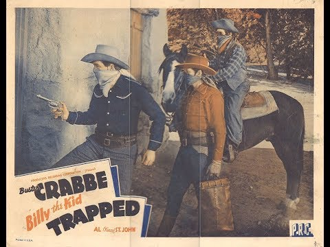 Billy the Kid Trapped (1942) - FULL Movie - Sam Newfield, Buster Crabbe, Al St. John