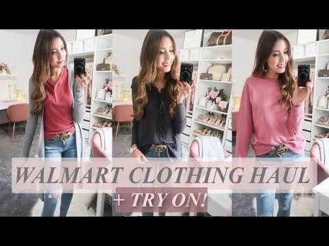 HUGE WALMART CLOTHING HAUL + TRY-ON FALL 2018