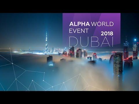 ALPHA WORLD DUBAI 2018   23-26 MARCH