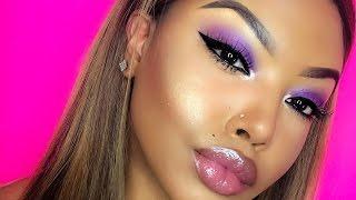 purple smokey eye makeup tutorial beginner friendly