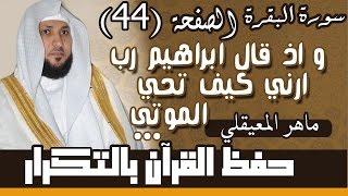 44#. الصفحة 44-  وإذ قال إبراهيم رب أرني كيف تحيي الموتى.. مكررة 10 مرات .. ماهر المعيقلي
