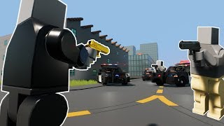 LARGEST LEGO POLICE CHASE EVER! - Brick Rigs Gameplay Roleplay - Lego Cops and Robbers!