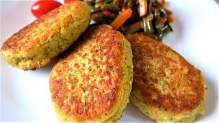 Вкусные котлеты из нута и овощей Chickpeas cutlets Kichererbsen Frikadellen