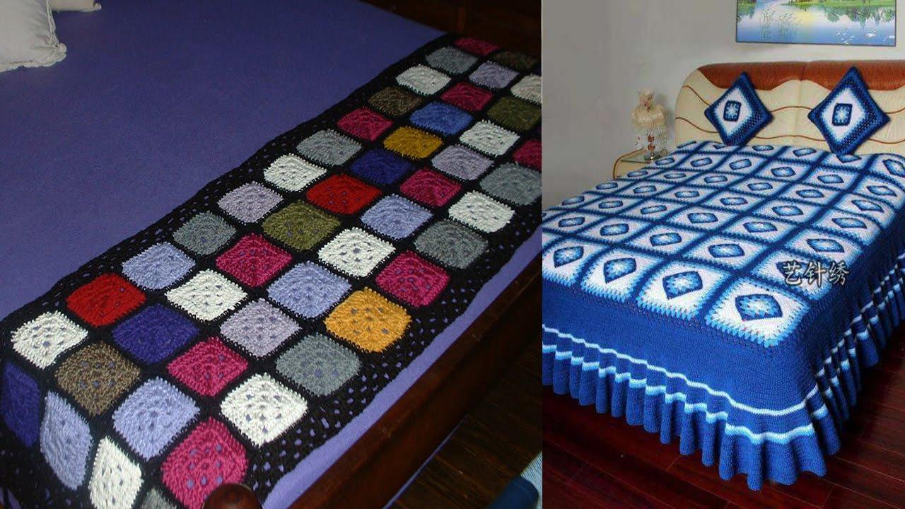 Mantas o colchas con granny tejidas a crochet imagenes - Mantas de punto hechas a mano ...