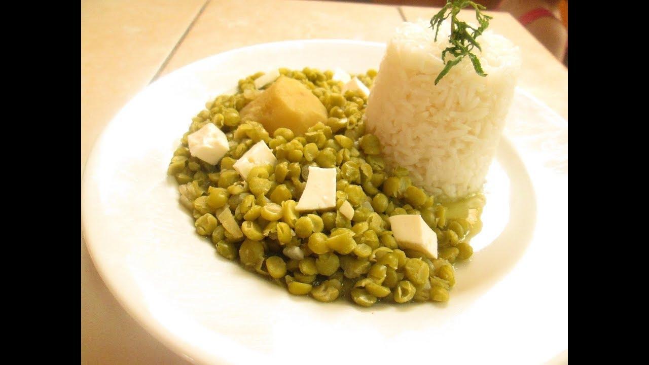 Lentejas partidas verdes receta peruana